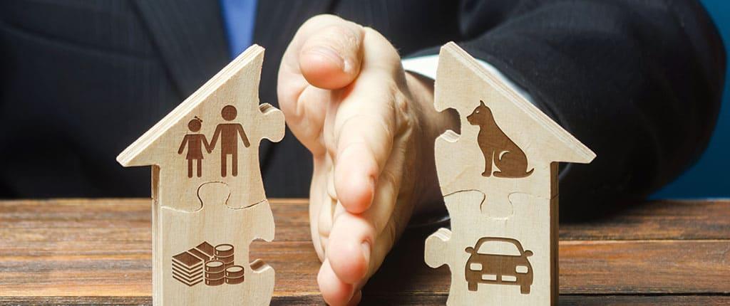 Liquidación de propiedad de divorcio